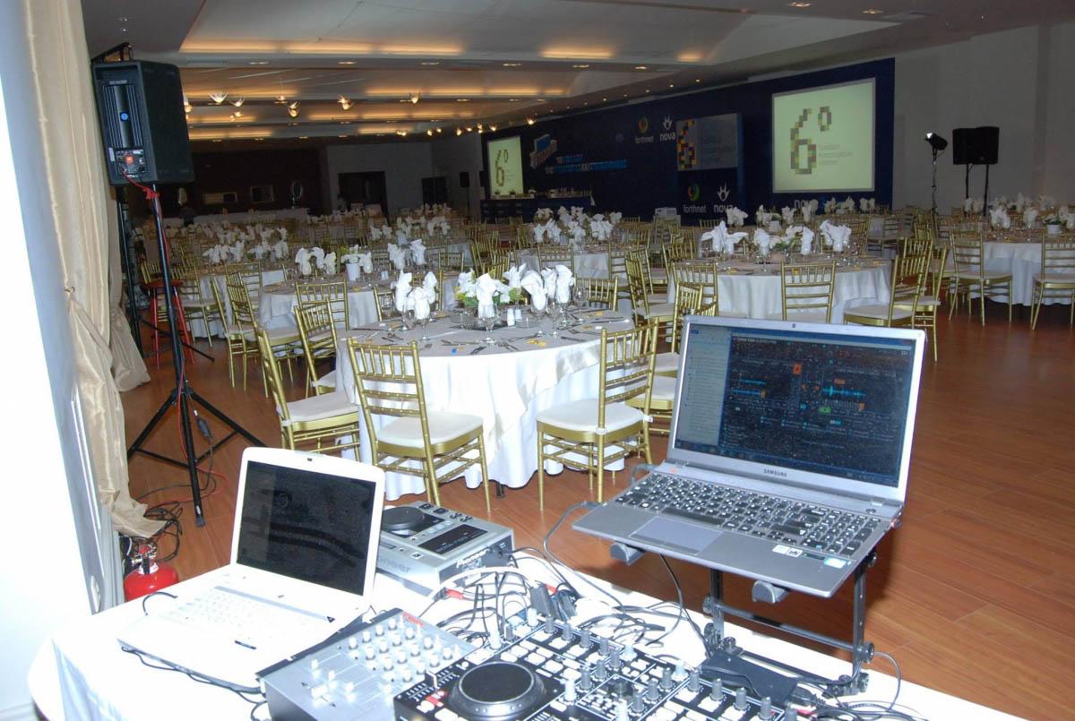 corporate event setup