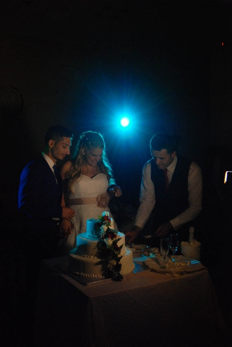 cutting the cake with style