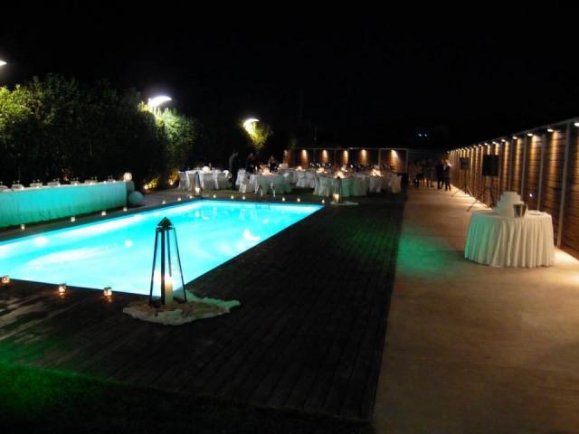 outdoor wedding under the stars
